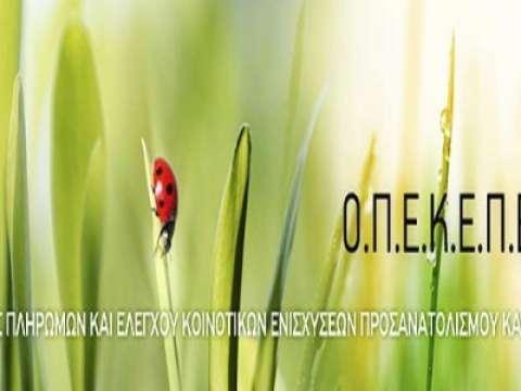Ο ΟΠΕΚΕΠΕ καταβάλλει σε 100.000 αγρότες ενισχύσεις 194 εκατ. ευρώ